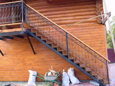 Лестница своими руками металл уличную 71