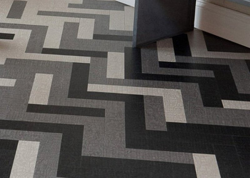 Раскладка плит пвх на полу с рисунком