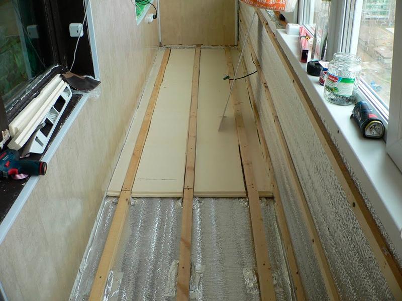 Как положить ламинат на балконе