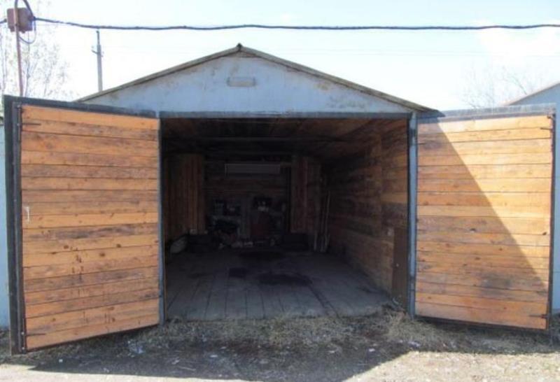 Деревянные гаражные ворота своими руками