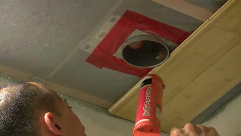 Крепление ламината на потолок