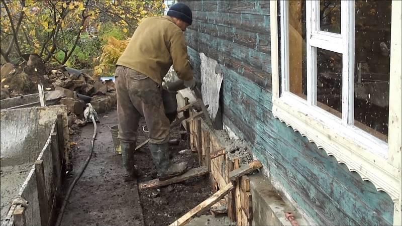 Заливка фундамента своими руками под старый дом