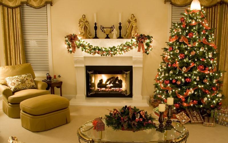 Украшения дома но новый год