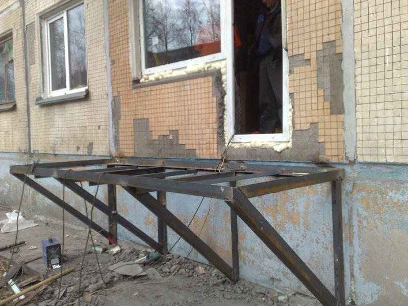 Балкон металлический своими руками 552
