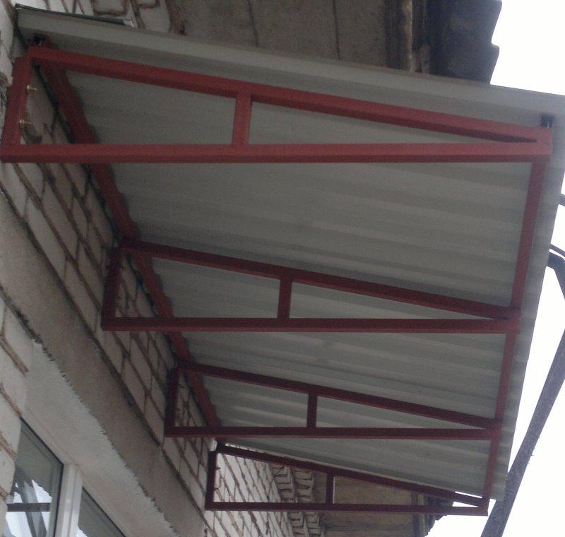 Балконные крыши: как своими руками сделать ломанное покрытие.