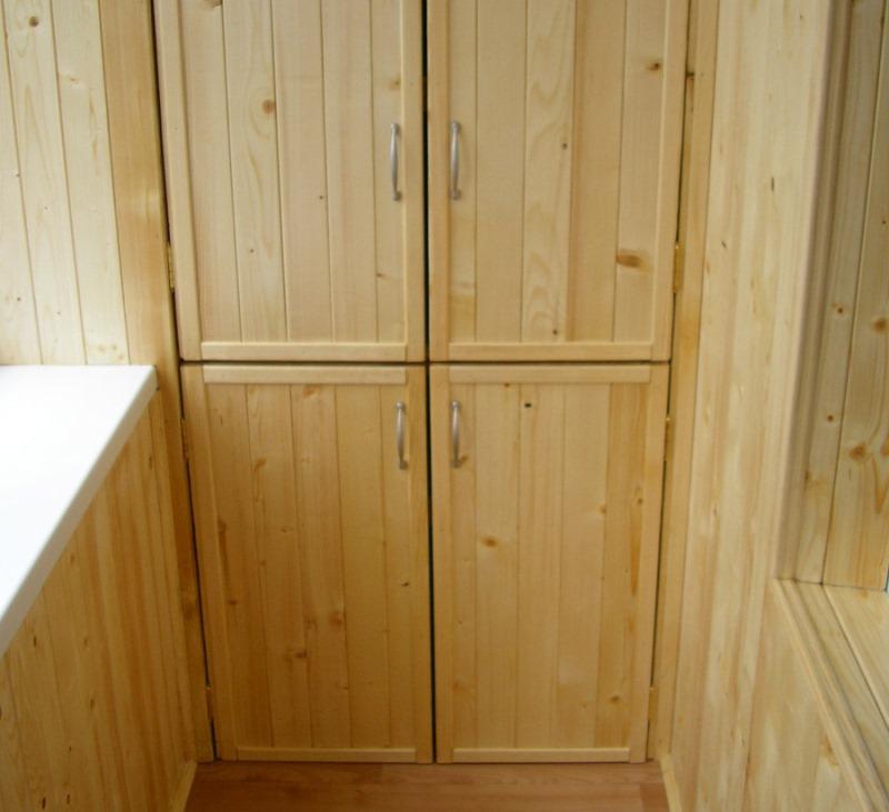 Как сделать шкаф на балконе своими руками быстро и просто.