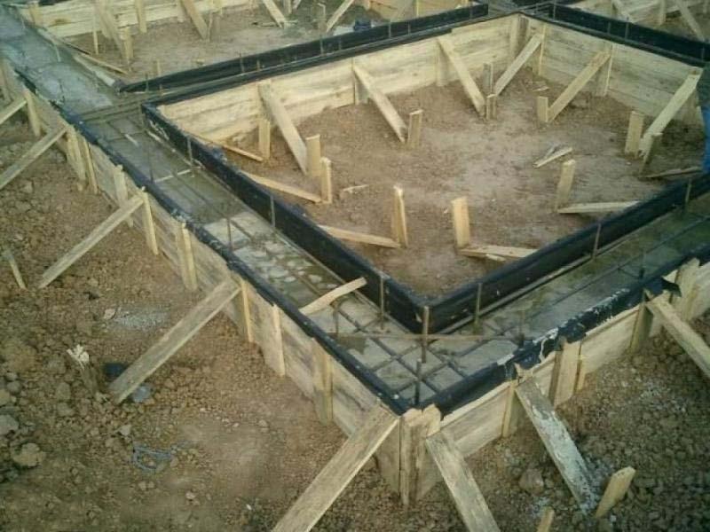 Фото как залить фундамент под дом своими