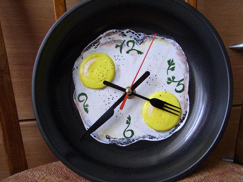 Часы на тарелке своими руками