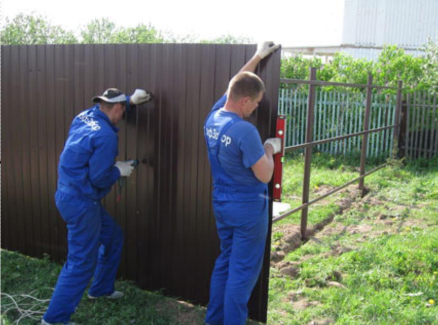 Как строить забор своими руками фото