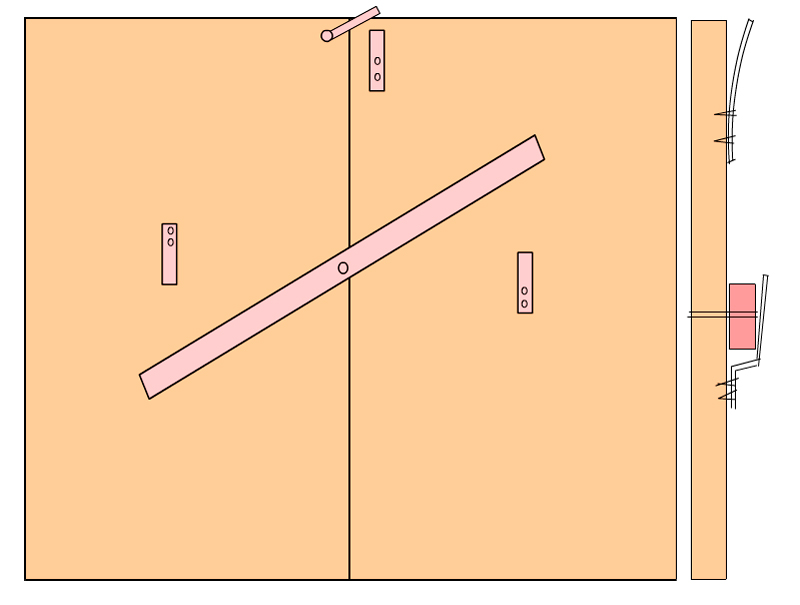 Как сделать калитку в гаражных воротах своими руками