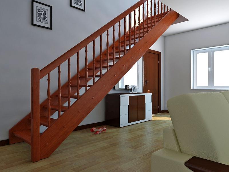 Маршевая лестница из дерева на второй этаж своими руками
