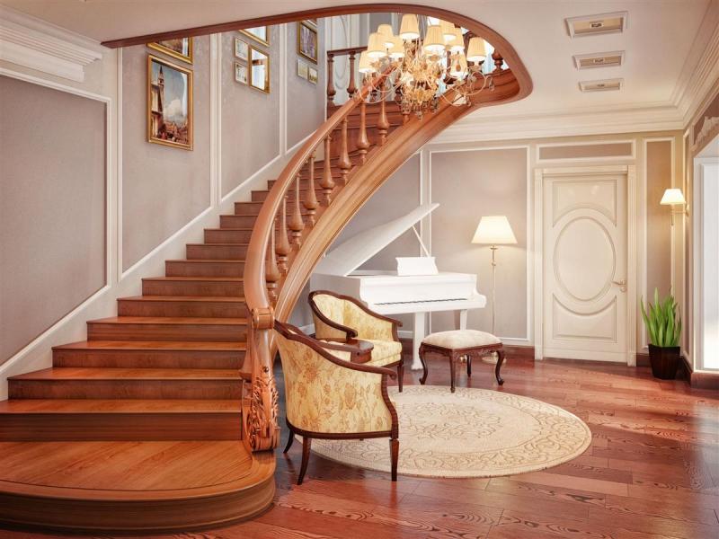 Холл с лестницей