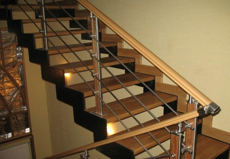 Обшивка деревом металлических лестниц своими руками
