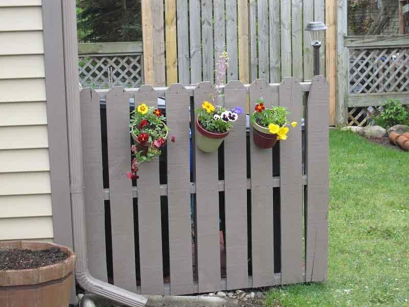 Забор из паллет своими руками