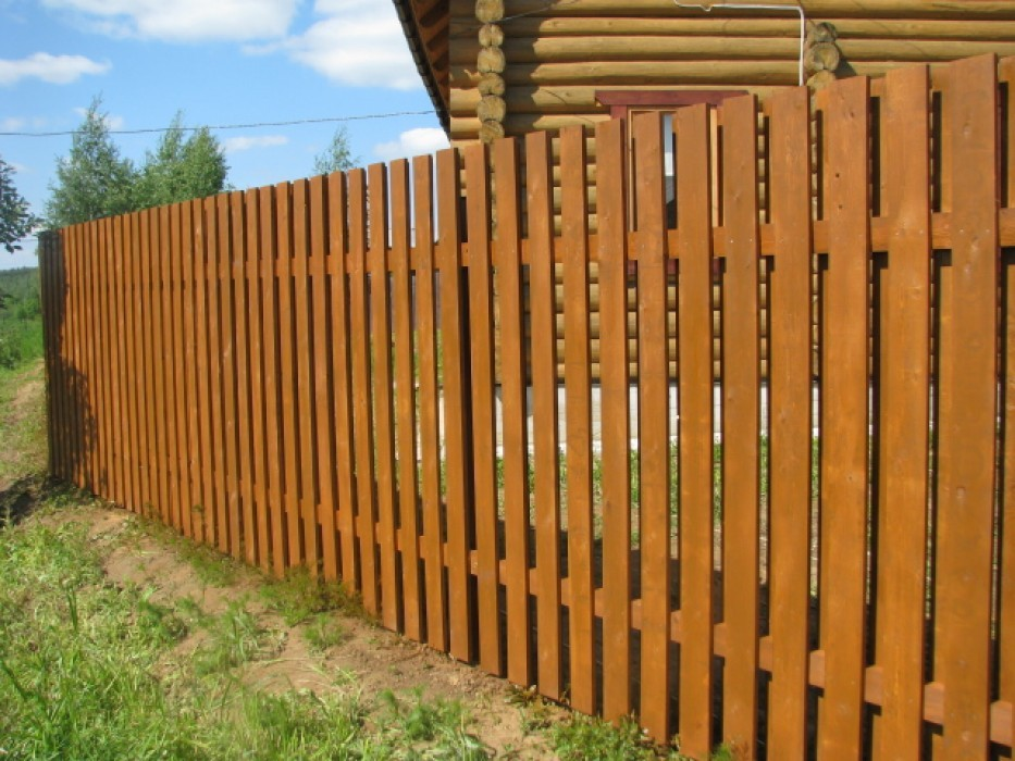 Забор из штакетника своими руками фото