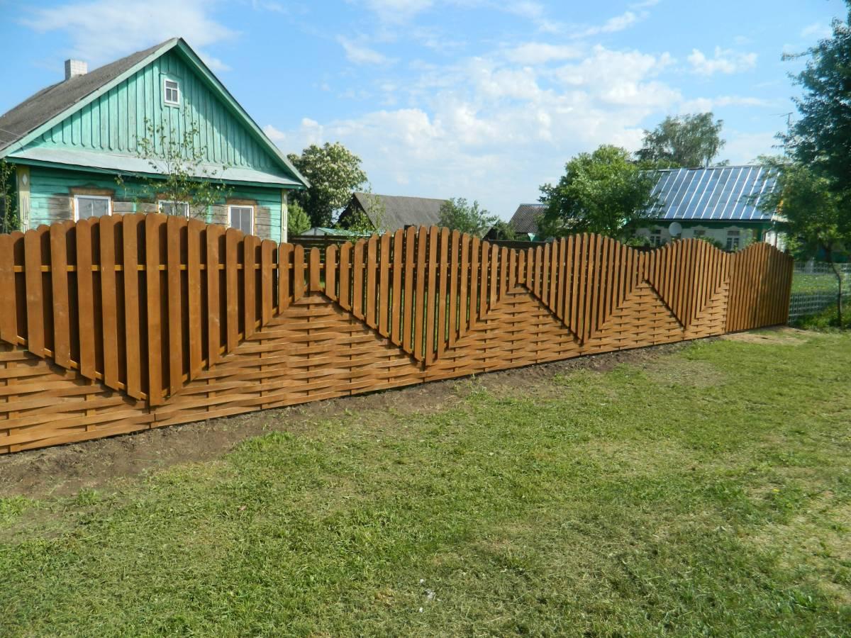 Забор своими руками из доски