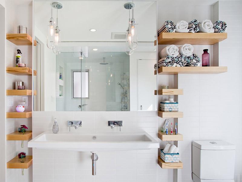Полочки на стену для ванной