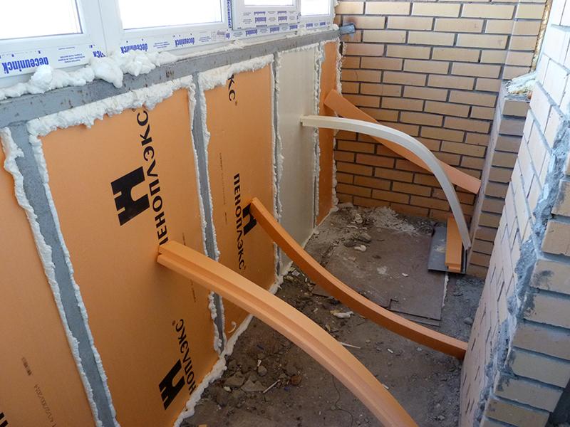 Как утеплить балкон своими руками пошаговое пеноплексом