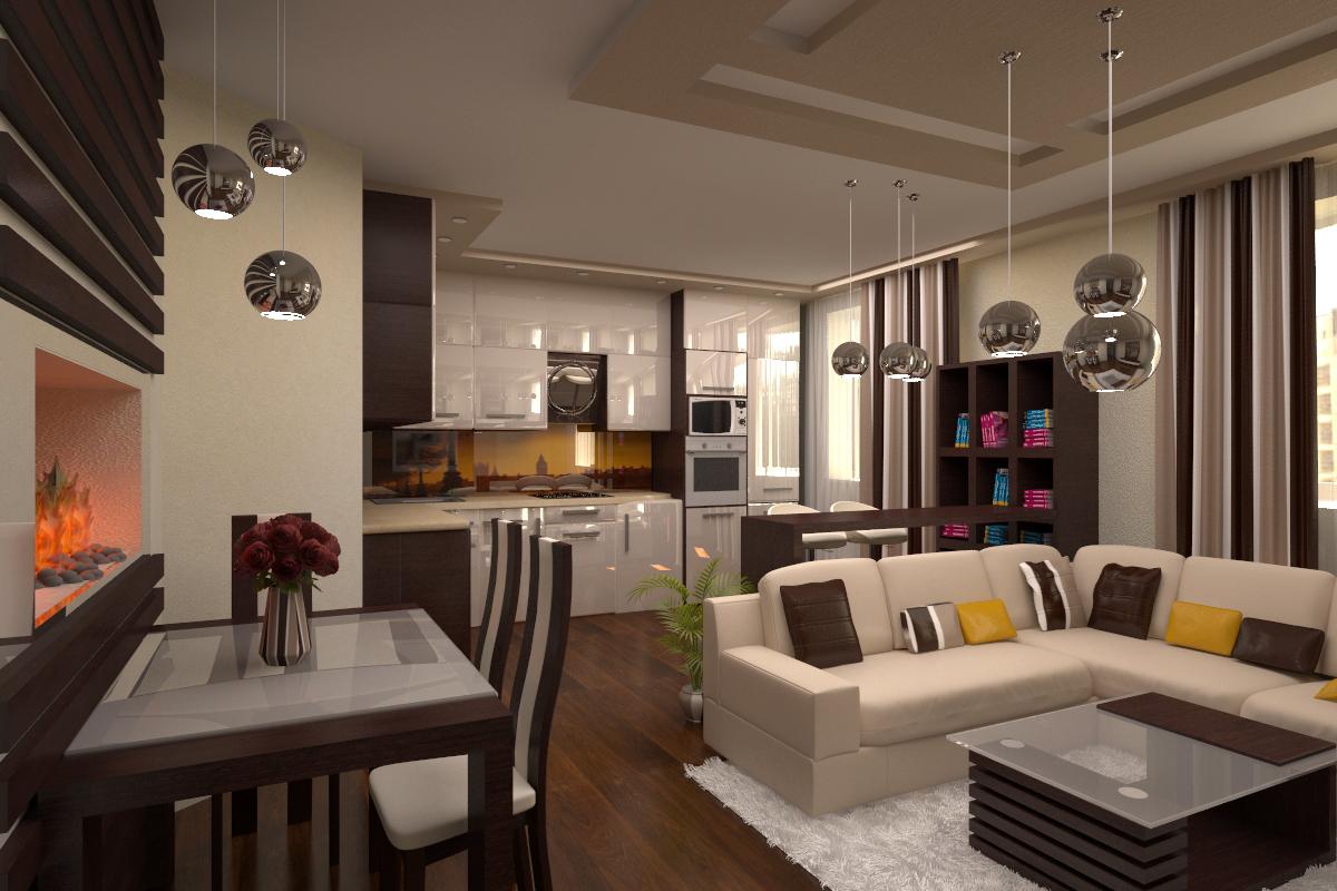 Дизайн кухни гостиной фото 2016
