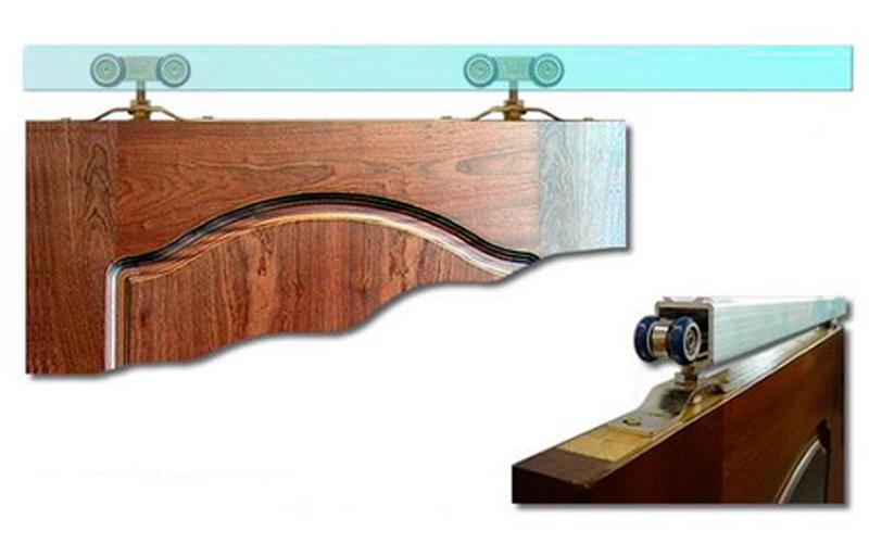 Раздвижной механизм для двери своими руками