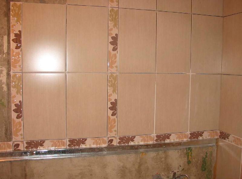Как положить плитку на стену в кухне своими руками
